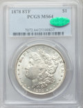 Morgan Dollars: , 1878 8TF $1 MS64 PCGS. CAC. PCGS Population (2418/536). NGC Census:(1958/383). Mintage: 699,300. Numismedia Wsl. Price for...