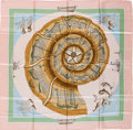 "Luxury Accessories:Accessories, Hermes Light Pink, Green & Blue ""Compagnons de Mer,"" by LoicDubigeon Silk Scarf. ..."
