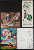 Autographs:Others, Baseball Greats Signed Letters, Photos and Magazines Lot Of 18....