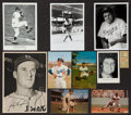 Baseball Collectibles:Others, Vintage Photo Pack, Postcards, Stubs, Promos, Photos (with Ruth(Featuring the Brooklyn/Los Angeles Dodgers (79 Pieces). ...