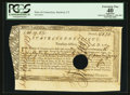 Colonial Notes:Connecticut, Connecticut Treasury Office June 1, 1780. Hole Cancel PCGS ApparentExtremely Fine 40.. ...