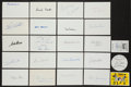 Autographs:Index Cards, Baseball Greats Signed Index Cards Lot Of 40+...
