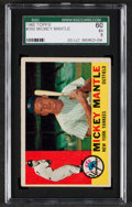 Baseball Cards:Singles (1960-1969), 1960 Topps Mickey Mantle #350 SGC 60 EX 5....