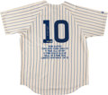 Baseball Collectibles:Bats, Ron Santo Signed Chicago Cubs Jersey....