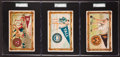 Olympic Cards:General, 1910 T6 Murad Cigarettes College Series Premiums PSA Graded Collection (3). ...
