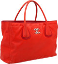 Luxury Accessories:Bags, Chanel Cherry Red Lambskin Leather Large Cerf Tote Bag with SilverHardware. ...