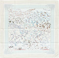 "Luxury Accessories:Accessories, Hermes Mint Green & Brown ""Libres comme l'Air,"" by Annie FaivreSilk Scarf. ..."