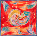 "Luxury Accessories:Accessories, Hermes Red, Orange & Blue Multicolor ""Feux de Ciel,"" by SefedinIbrahim Alamin Silk Scarf. ..."