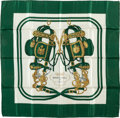 "Luxury Accessories:Accessories, Hermes Dark Green and Cream ""Brides de Gala,"" by Hugo Grygkar SilkScarf. ..."