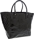 Luxury Accessories:Bags, Chanel Black Patent Leather Large Tote Bag. ...