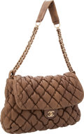 Luxury Accessories:Bags, Chanel Light Brown Leather Bubble Shoulder Bag with Gold Hardware....