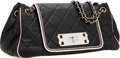 Luxury Accessories:Bags, Chanel Dark Navy Lambskin Leather Accordion Flap Bag with SilverHardware. ...