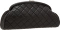 Luxury Accessories:Bags, Chanel Black Lambskin Leather Timeless Clutch with Silver Hardware....