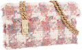 Luxury Accessories:Bags, Chanel Pink & White Tweed Shoulder Bag with Brushed GoldHardware. ...