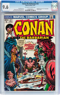 Bronze Age (1970-1979):Adventure, Conan the Barbarian #33 (Marvel, 1973) CGC NM+ 9.6 Off-white to white pages....