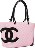 Luxury Accessories:Bags, Chanel Pink Lambskin Leather Cambon Large Tote Bag. ...