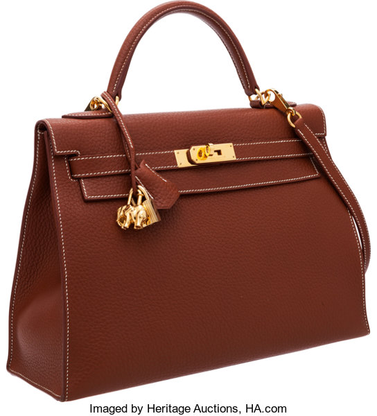 61bc08b6466 Hermes 32cm Etrusque Fjord Leather Sellier Kelly Bag with