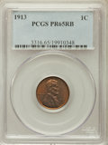 Proof Lincoln Cents, 1913 1C PR65 Red and Brown PCGS....