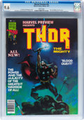 Magazines:Superhero, Marvel Preview #10 Thor the Mighty (Marvel, 1977) CGC NM+ 9.6 Whitepages....