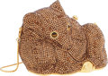 Luxury Accessories:Bags, Judith Leiber Full Bead Copper Crystal Curled Mouse MinaudiereEvening Bag. ...