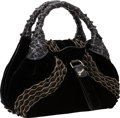 Luxury Accessories:Bags, Fendi Limited Edition Black Velvet & Beaded Small Spy Bag. ...
