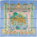 "Luxury Accessories:Accessories, Hermes Light Blue, Light Pink & Light Green ""L'Atlantide,"" byAnnie Faivre Silk Scarf. ..."
