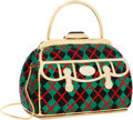 Luxury Accessories:Bags, Judith Leiber Full Bead Green, Red & Black Crystal Top HandleMinaudiere Evening Bag. ...