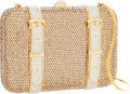 Luxury Accessories:Bags, Judith Leiber Full Bead Gold & Silver Crystal SuitcaseMinaudiere Evening Bag. ...