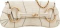 Luxury Accessories:Bags, Gucci Bone Crocodile Large Horsebit Clutch Bag with Brushed GoldChain. ...
