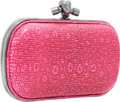 Luxury Accessories:Bags, Bottega Veneta Neon Pink Ring Lizard Knot Clutch Bag with HammeredGunmetal Hardware. ...