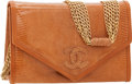 Luxury Accessories:Bags, Chanel Brown Lizard Flap Clutch Bag with Multichain Shoulder Strap....