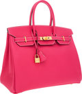 Luxury Accessories:Bags, Hermes 35cm Rose Tyrien Epsom Leather Birkin Bag with GoldHardware. ...