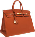 Luxury Accessories:Bags, Hermes 40cm Etrusque Togo Leather Birkin Bag with Gold Hardware....