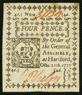 Colonial Notes:Connecticut, Connecticut October 11, 1777 4d Slash Cancel About New.. ...