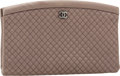 Luxury Accessories:Bags, Chanel Dark Silver Satin Kiss Lock Clutch Bag with GunmetalHardware. ...