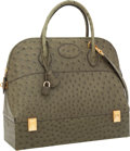 Luxury Accessories:Bags, Hermes Vert Olive Ostrich Macpherson Bolide Bag with Gold Hardware....