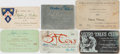Books:Science Fiction & Fantasy, [Science Fiction] Lot of Six Science Fiction Convention/Membership Cards, Circa 1949-1957. Assorted lot of membership and co...