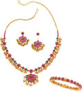Estate Jewelry:Suites, Ruby, Emerald, Gold Jewelry Suite. ...