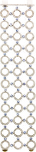 Estate Jewelry:Bracelets, Moonstone, Diamond, Sapphire, White Gold Bracelet. ...