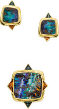Estate Jewelry:Suites, Boulder Opal, Tourmaline, Citrine, Gold Jewelry Suite. ... (Total: 2 Items)