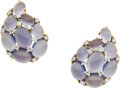 Estate Jewelry:Earrings, Moonstone, Diamond, Platinum, Gold Earrings, Verdura. ...