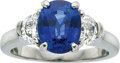 Estate Jewelry:Rings, Sapphire, Diamond, Platinum Ring, Martin Flyer. ...