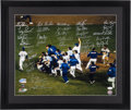 Baseball Collectibles:Photos, 1986 New York Mets Multi Signed Oversized Photograph....