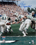 Football Collectibles:Uniforms, Joe Namath Signed Oversized Photograph....