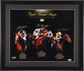 Miscellaneous Collectibles:General, Triple Crown Magic Multi Signed Oversized Print....