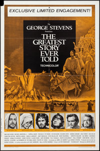 "The Greatest Story Ever Told (United Artists, 1965). One Sheet (27"" X 41""). Drama"