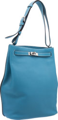 Luxury Accessories:Bags, Hermes 26cm Blue Jean Togo Leather So Kelly Bag with PalladiumHardware. ...