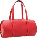 Luxury Accessories:Bags, Louis Vuitton Soufflot Red Epi Leather Soufflot Shoulder Bag withPochette. ...