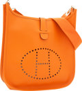 Luxury Accessories:Bags, Hermes Orange H Epsom Leather Evelyne II Bag. ...