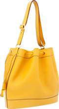 Luxury Accessories:Bags, Hermes Jaune Epsom Leather Market Drawstring Tote Bag. ...